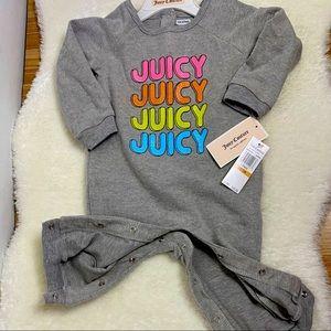 NWT Juicy Couture Grey onesie